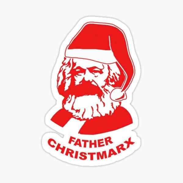 Father Christmarx- Santa Claus karl Marx Sticker