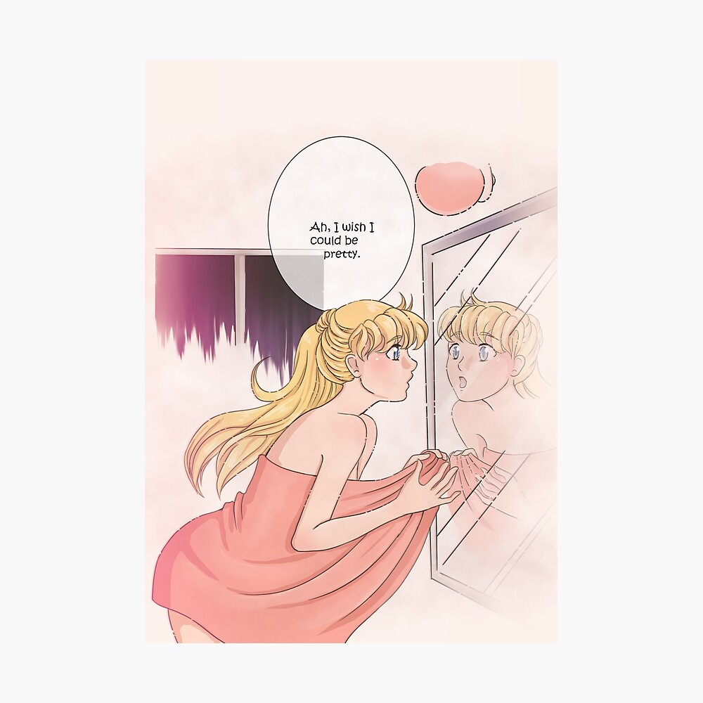 Sailor Moon Ah I Wish I Could Be Pretty Poster By Sara T Redbubble