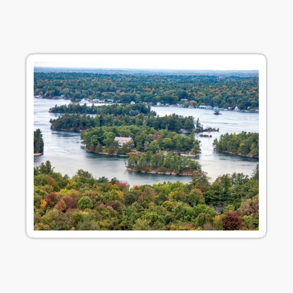 1000 Island View From Tower - Looking West Sticker