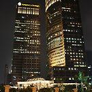 Sampoerna Strategic Square (by night) by buildings