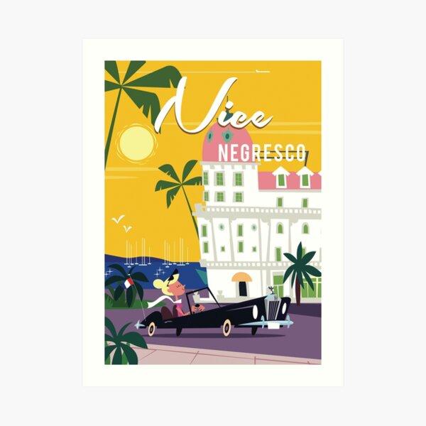 Schönes Cote d'Azur Poster Kunstdruck