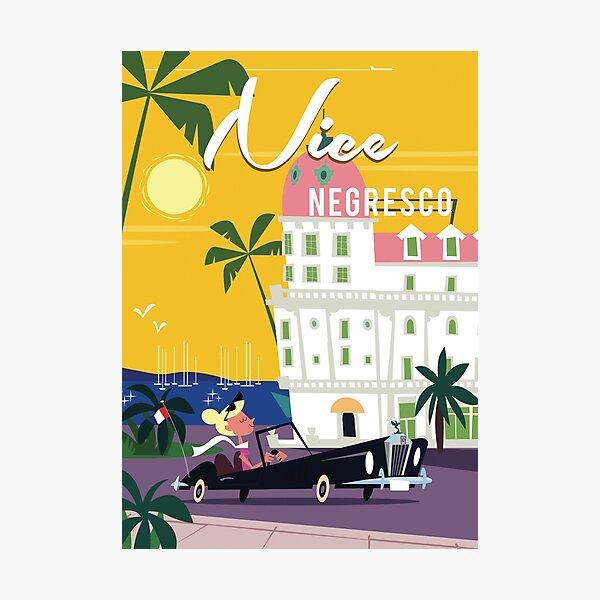 Nice Cote d'Azur poster Photographic Print