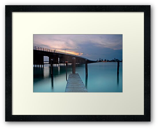 Of Bridge, Poles, Pier and Person by bazcelt