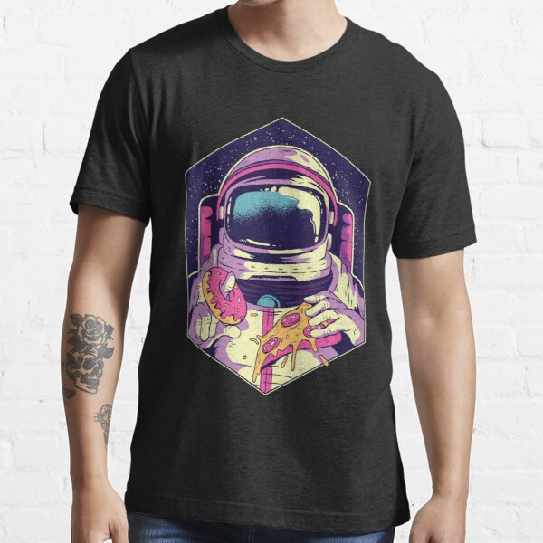 Astronaut eating pizza and donuts in space Essential T-Shirt