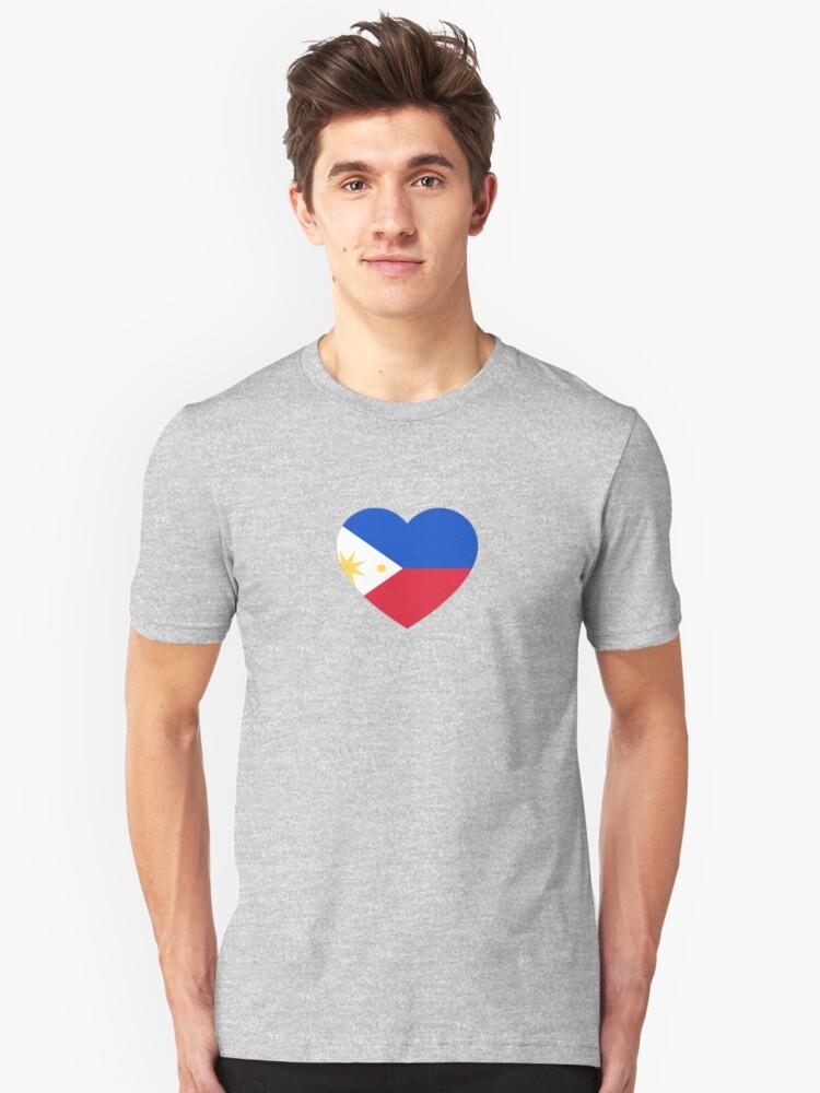 Alternate view of Filipino Heart Slim Fit T-Shirt