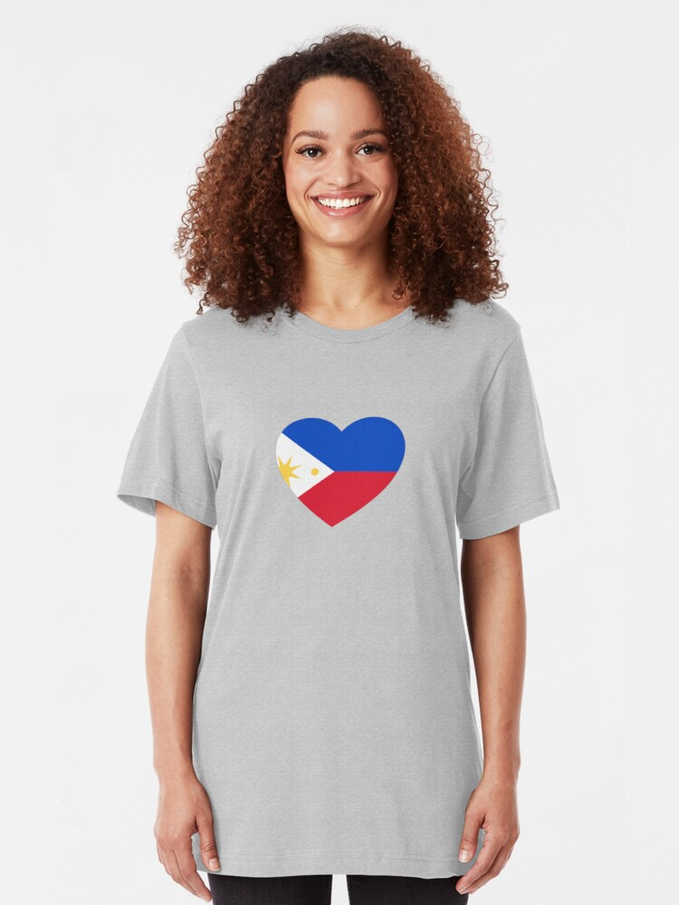 Alternate view of Filipino Heart Slim Fit T-Shirt