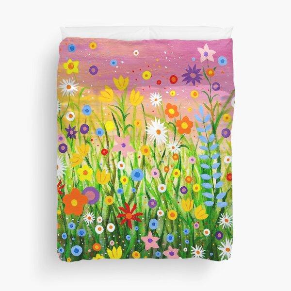 Happy Little Garden 3 Duvet Cover