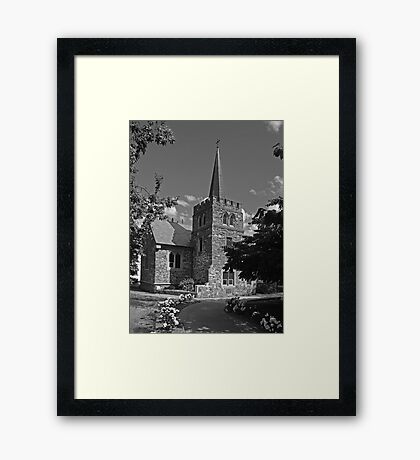 Anglican church - Queenstown Framed Print