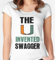 The U Invented Swagger Miami Canes Women's Fitted Scoop T-Shirt