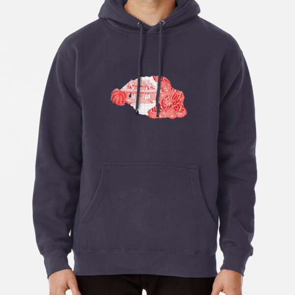 Reunion Island, puzzle style, France. Pullover Hoodie