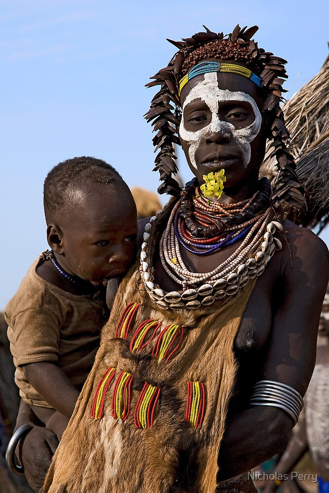 Quot Karo Tribe Mother And Child Quot By Nicholas Perry Redbubble