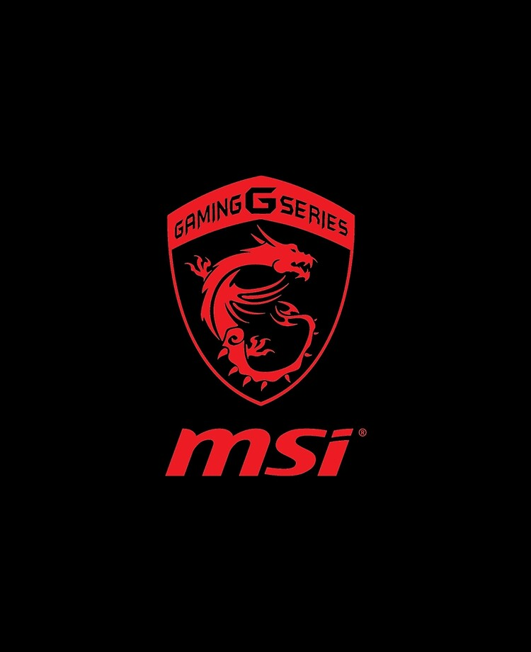 Msi Gaming Series Transparent Logo Red Ipad Case Skin By Cacinadam Redbubble