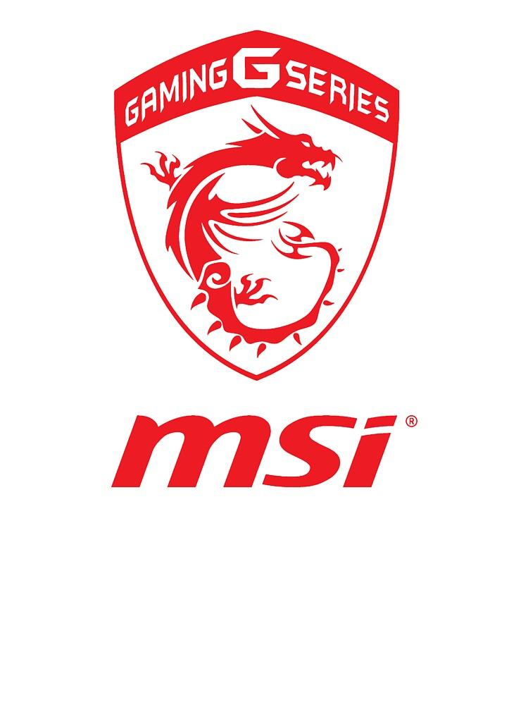 Msi Gaming Series Transparent Logo Red Kids T Shirt By Cacinadam Redbubble
