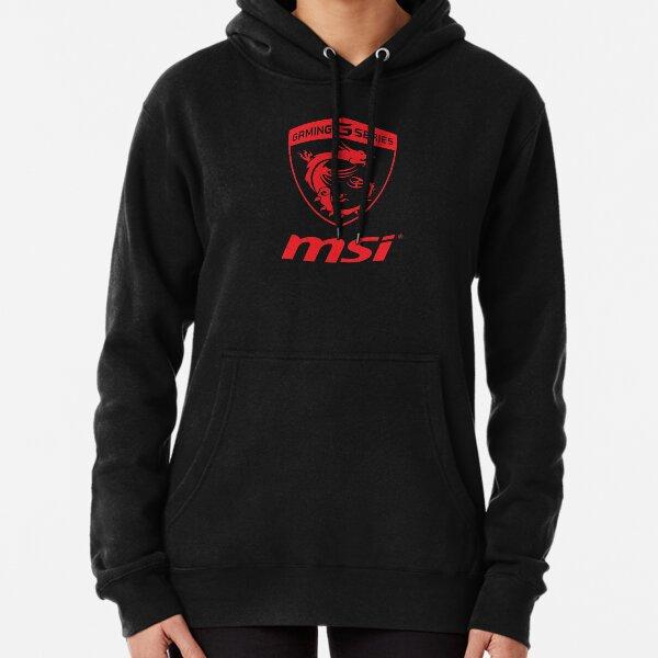 MSI Gaming Series Transparent Logo red Pullover Hoodie