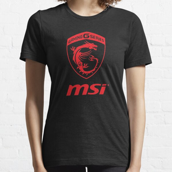 Transparentes Logo der MSI Gaming Series rot Essential T-Shirt