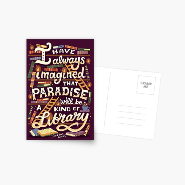 Library is Paradise Postcard
