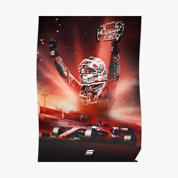 Sebastian Vettel 2019 Poster Póster