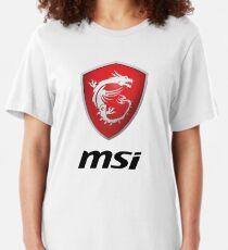 MSI Logo Potrait Black Slim Fit T-Shirt