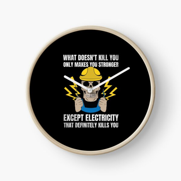 Electrician Gift Electrical Engineer Electricity Clock
