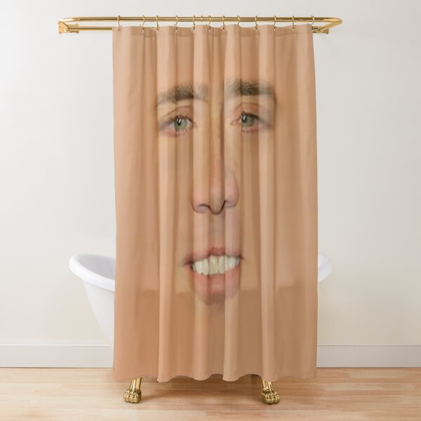 Nicolas cage Giant Face Shower Curtain