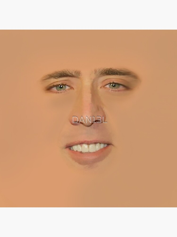 Nicolas cage Giant Face by DAN13L