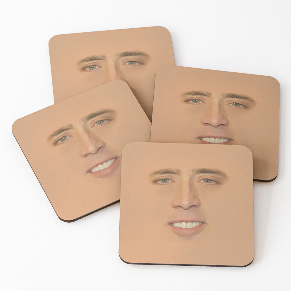 Nicolas cage Giant Face Coasters (Set of 4)