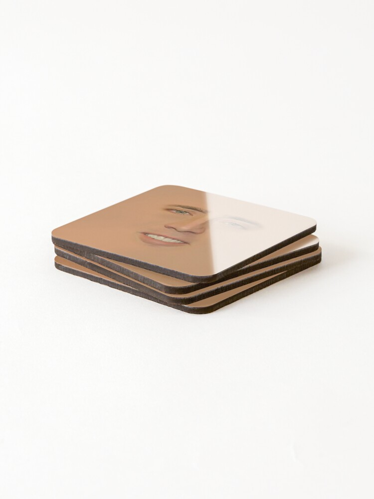 Alternate view of Nicolas cage Giant Face Coasters (Set of 4)
