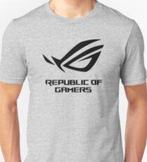 Republic of Gamers ROG Logo Black Slim Fit T-Shirt