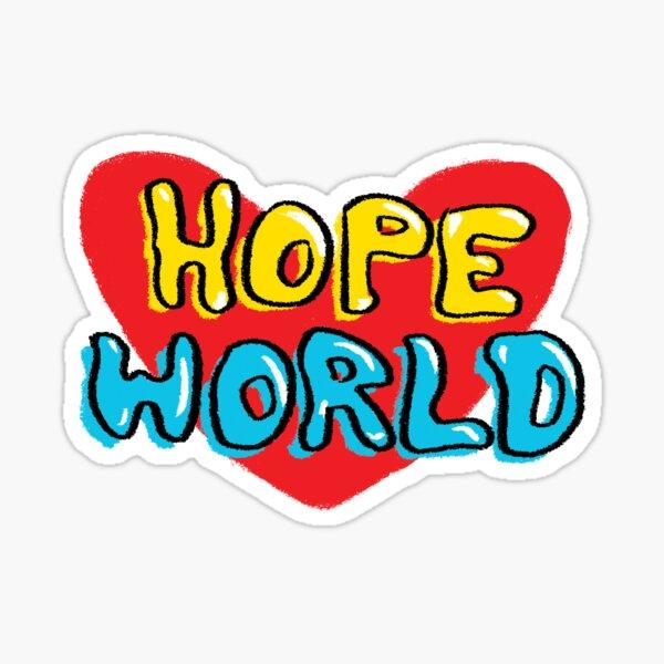 Mundo de la esperanza Pegatina