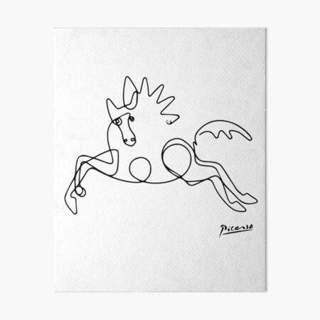 Pablo Picasso Horse Artwork Shirt, Sketch Reproduction Art Board Print