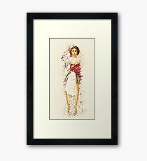 doll with apron, 2011 Framed Print