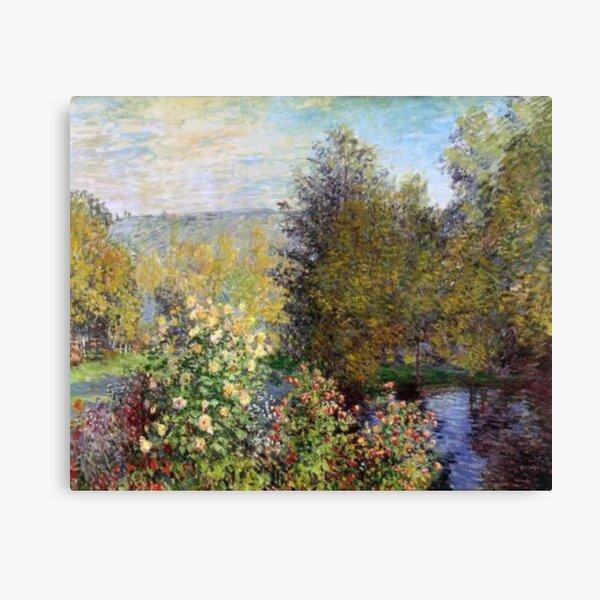 A Corner Of The Garden At Montgeron by Claude Monet Canvas Print