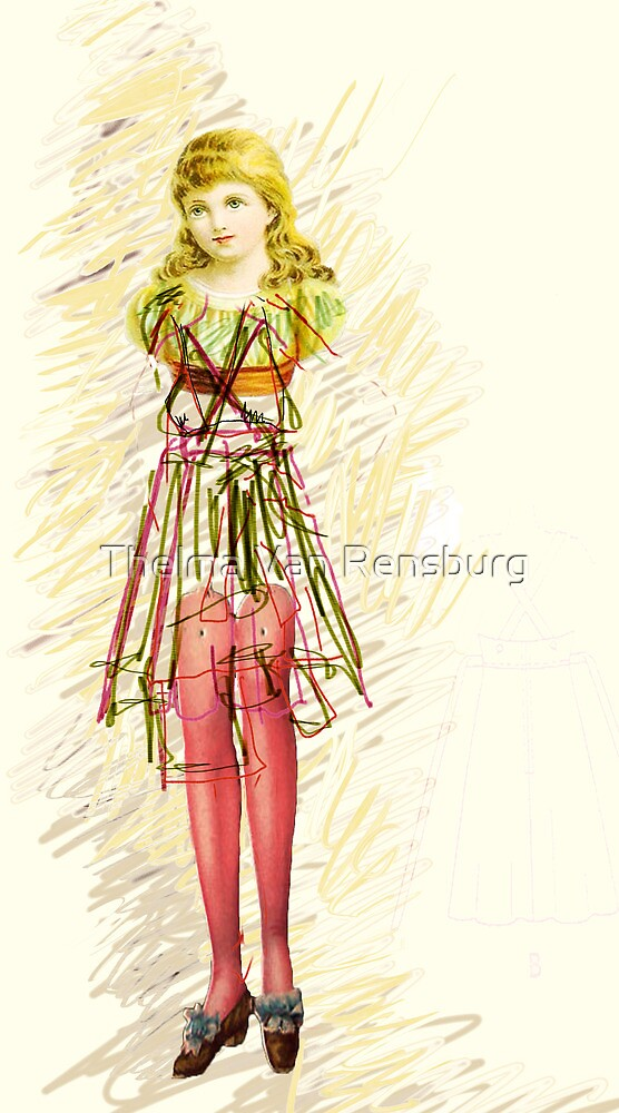 doll with green dress, 2011 by Thelma Van Rensburg
