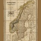 Map of Sweden and Norway (1847) by allhistory