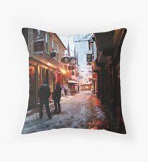 Snowy Butchery Lane (Canterbury in the Snow 2010) Throw Pillow