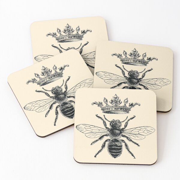 Vintage French Queen Bee  Coasters (Set of 4)