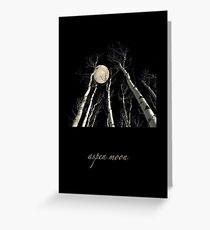 aspen moon Greeting Card