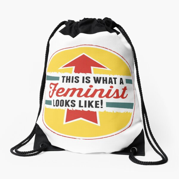 This is what a Feminist Looks Like Drawstring Bag