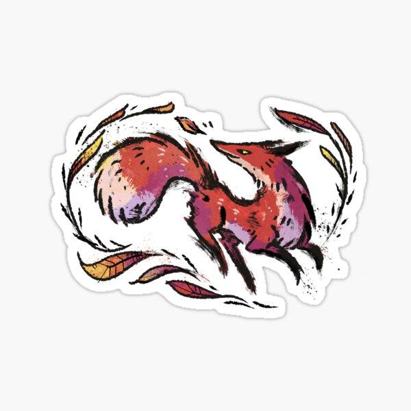 Fall Fox Sticker