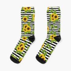 Sonnenblumen Blumen Muster Socken