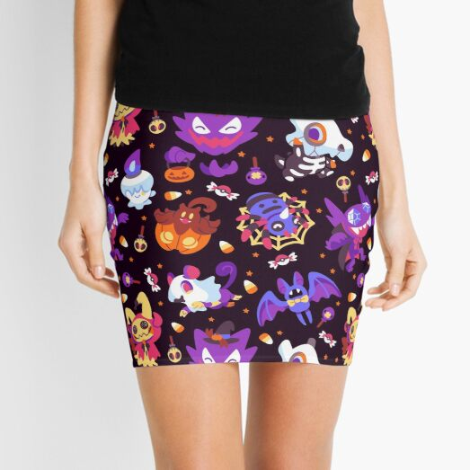 Halloween Pokes Mini Skirt