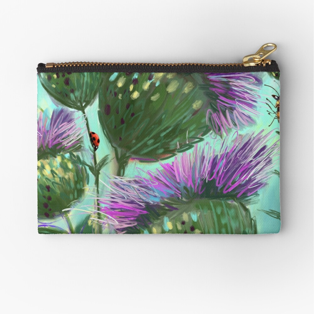 The Thistle Crowd Zipper Pouch