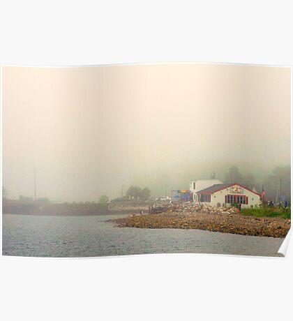 Fog, Lincolnville, Maine Poster