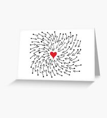 One Heart One Love One Direction Greeting Card