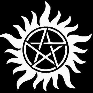 Supernatural Anti-possessionTattoo in white by MohrCreations