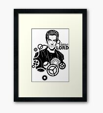 time LORD Framed Print