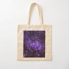 Chandra Ultraviolet Cotton Tote Bag