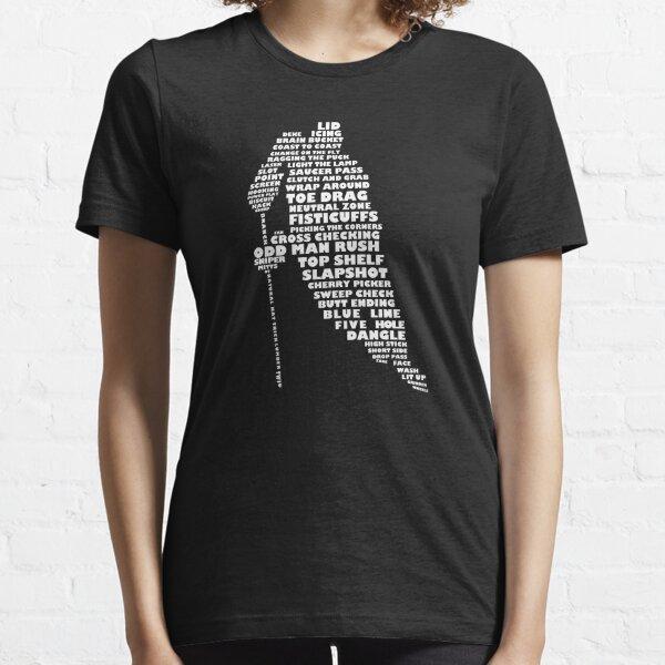 Hockey Player Terminology Calligram Essential T-Shirt