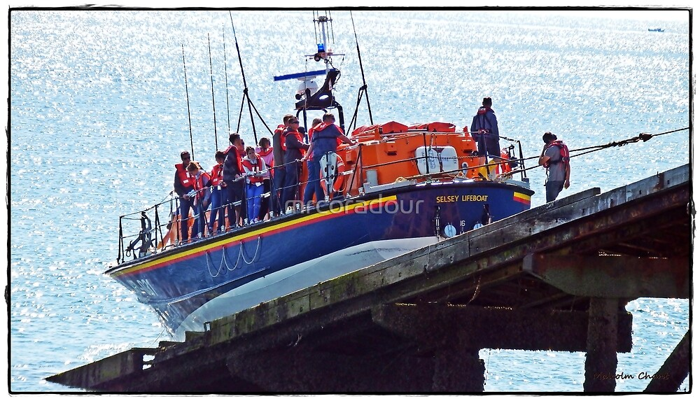 The Selsey Lifeboat being pulled back into the boathouse by Malcolm Chant
