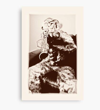 Boy soldier 3 Canvas Print